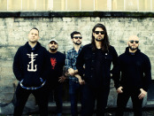 Taking Back Sunday 2015 press photo. with Adam Lazzara.