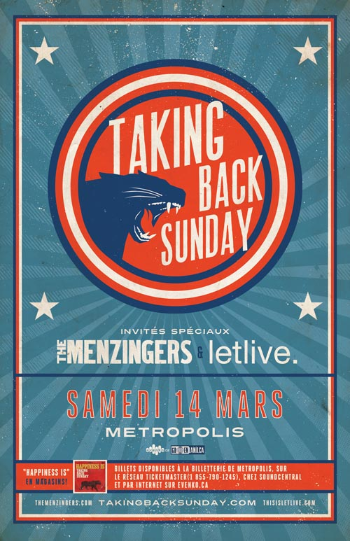 Win tickets to Taking Back Sunday March 14 in Montreal