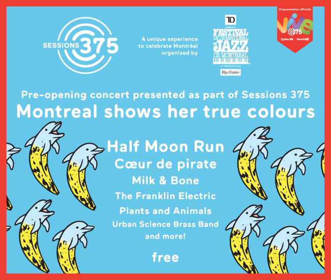 The Montreal Jazz Festival is set to kick off their 38th edition with a free outdoor blowout on June 28, with an all-Montreal lineup including Half Moon Run, Coeur de Pirate, Milk & Bone, The Franklin Electric, Plants and Animals and Urban Science Brass Band.