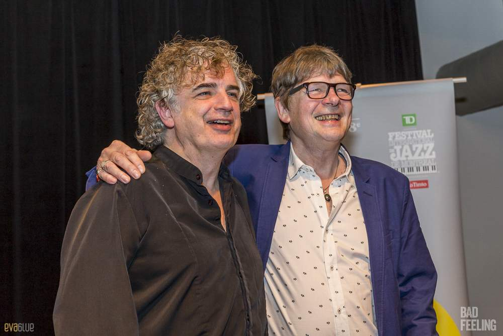 King Crimson press conference at Montreal International Jazz Festival. Photo by Eva Blue.