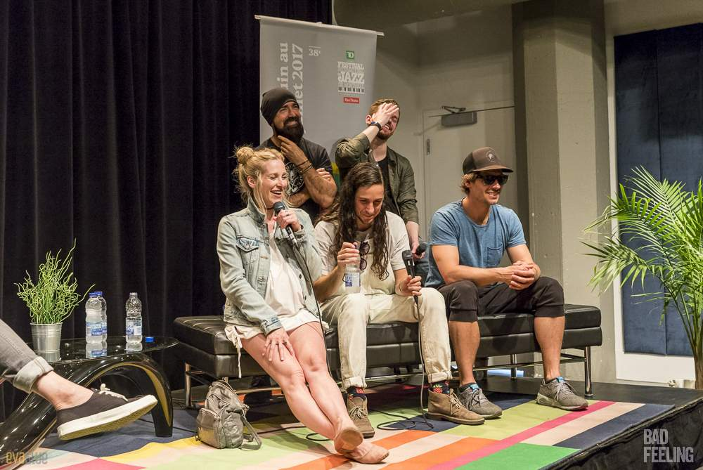 Walk Off the Earth press conference at Montreal International Jazz Festival. Photo by Eva Blue.