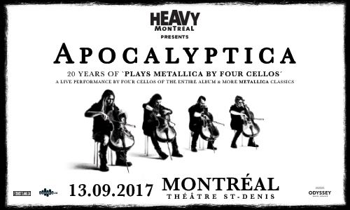 Win tickets to see Apocalyptica Plays Metallica by Four Cellos in Montreal September 13 1