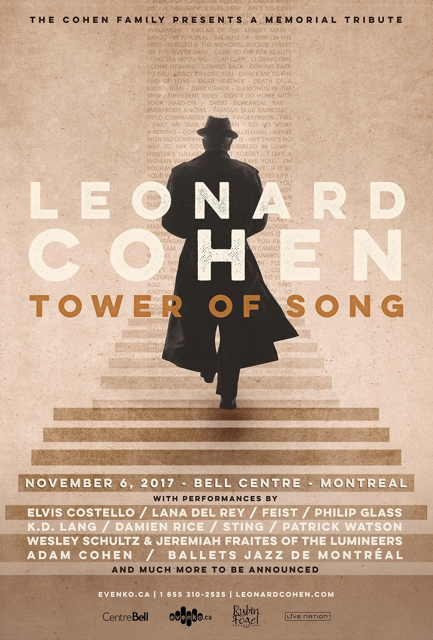 Montreal gets a star-studded tribute to Leonard Cohen featuring Elvis Costello, Sting, Lana Del Rey and many more
