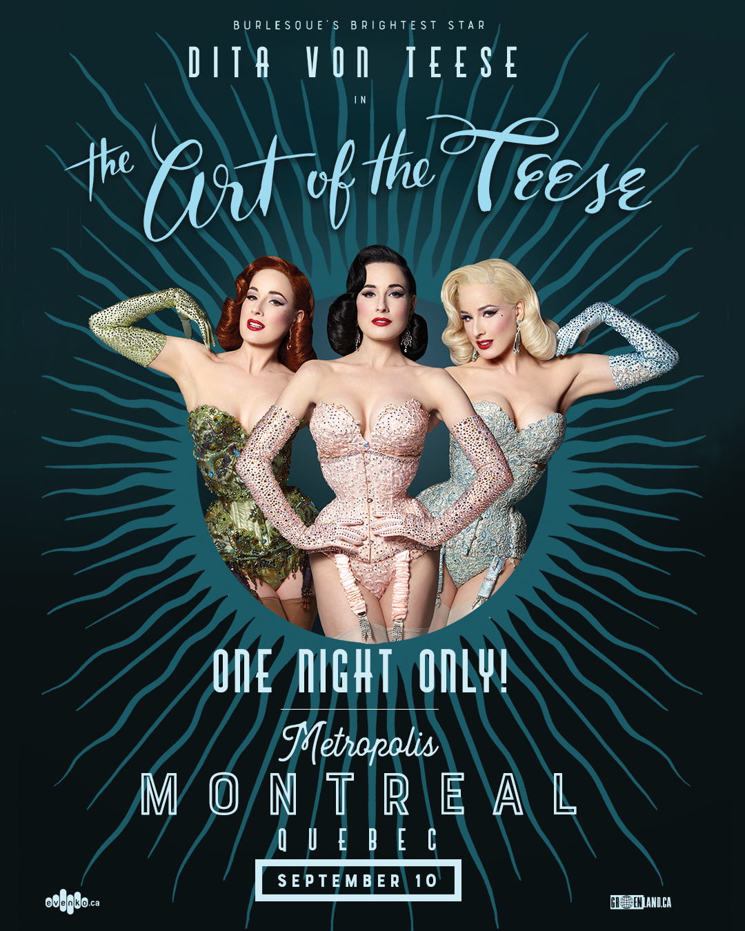 "Win tickets to see Dita Von Teese perform ""The Art of the Teese"" in Montreal on September 10 2"