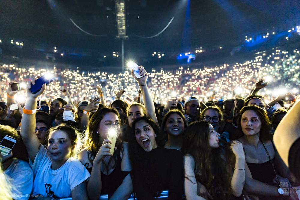 The crowd at Chance the Rapper live at Bell Centre, May 25, 2017.