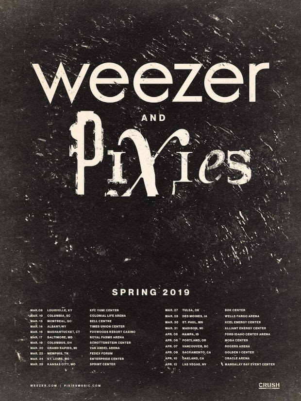 Weezer Announces The Black Album 2019 Tour With Pixies