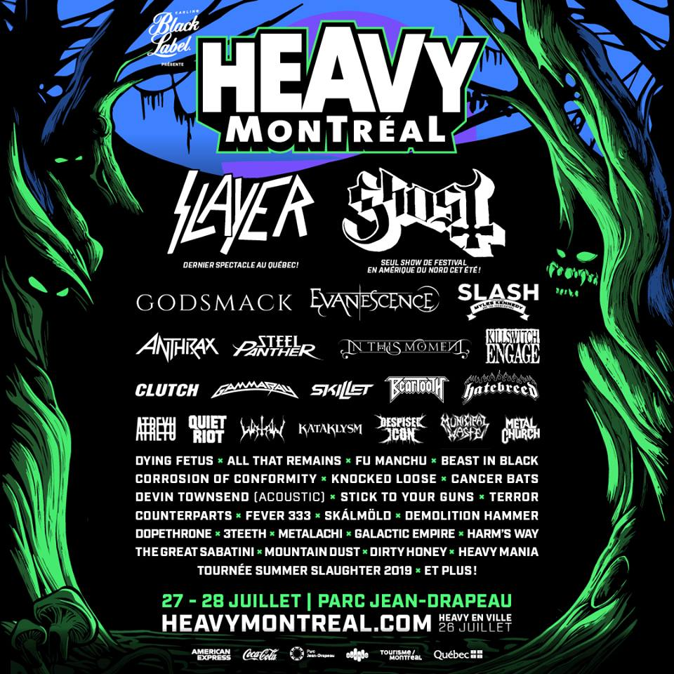 Summer Slaughter 2020.Heavy Montreal 2019 Adds Dying Fetus Corrosion Of