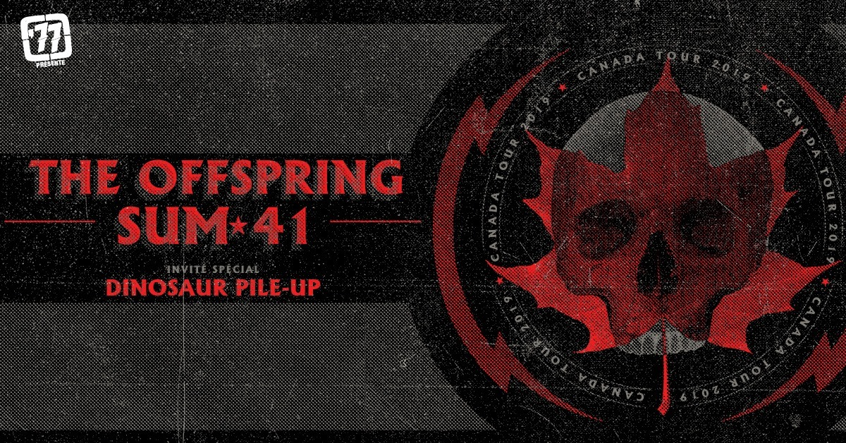 Sum 41 and The Offspring announce Canadian tour (Place Bell